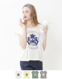 ティティベイト カレッジプリントTシャツ