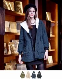 ボアフード中綿モッズコート【ファッション・アパレル レディースアウター】/大人女性へおすすめスタイルを提案するプチプラカジュアル通販のティティベイト(titivate) 公式通販/titivate(ティティベイト)/KJP0242/kjp0242