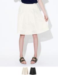 ティティベイト フェイクレザーパンチングスカート