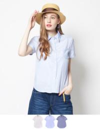ティティベイト ストライプ半袖シャツ