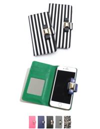 ティティベイト i phone 6/6Plus対応リボン付き手帳型i Phone cace/i phoneケース