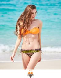 オレンジ×エスニック柄ビキニ/水着【ファッション・アパレル レディースその他】/大人女性へおすすめスタイルを提案するプチプラカジュアル通販のティティベイト(titivate) 公式通販/titivate(ティティベイト)/ALWB0035/alwb0035