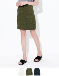 綿ツイルミリタリースカート【メール便可/70】【ファッション・アパレル レディーススカート】/大人女性へおすすめスタイルを提案するプチプラカジュアル通販のティティベイト(titivate) 公式通販/titivate(ティティベイト)/ALJR4156/aljr4156