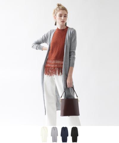 シンプルロングカーディガン【メール便可/90】【ファッション・アパレル レディースニット】/大人女性へおすすめスタイルを提案するプチプラカジュアル通販のティティベイト(titivate) 公式通販/titivate(ティティベイト)/AMXQ0639/amxq0639