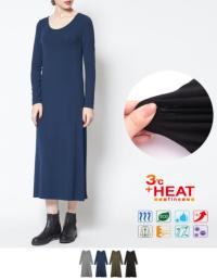 HEAT FINEロングスリーブマキシワンピース/ヒート【メール便可/60】