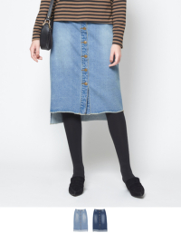 デニムタイトスカート【メール便可/80】【ファッション・アパレル レディーススカート】/大人女性へおすすめスタイルを提案するプチプラカジュアル通販のティティベイト(titivate) 公式通販/titivate(ティティベイト)/AMXP0829/amxp0829