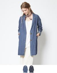 デニムチェスターコート【ファッション・アパレル レディースアウター】/大人女性へおすすめスタイルを提案するプチプラカジュアル通販のティティベイト(titivate) 公式通販/titivate(ティティベイト)/ANJR5034/anjr5034