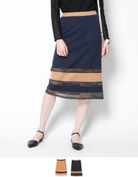 メッシュボーダースカート【メール便可/90】【ファッション・アパレル レディーススカート】/大人女性へおすすめスタイルを提案するプチプラカジュアル通販のティティベイト(titivate) 公式通販/titivate(ティティベイト)/ANWD0138/anwd0138