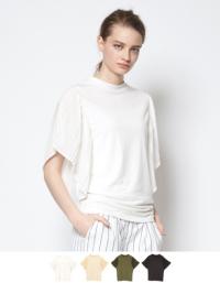 プリーツフリルスリーブカットソープルオーバー【メール便可/80】【ファッション・アパレル レディースワンピース】/大人女性へおすすめスタイルを提案するプチプラカジュアル通販のティティベイト(titivate) 公式通販/titivate(ティティベイト)/ANXP0985/anxp0985