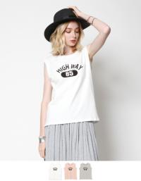 ノースリーブロゴTシャツ【メール便可/40】