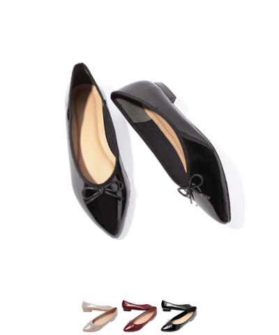ポインテッドトゥりぼんフラットパンプス【ファッション・アパレル 靴レディース】/大人女性へおすすめスタイルを提案するプチプラカジュアル通販のティティベイト(titivate) 公式通販/titivate(ティティベイト)/AOXP0989/aoxp0989