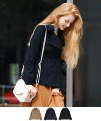 メルトンPコート【ファッション・アパレル レディースアウター】/大人女性へおすすめスタイルを提案するプチプラカジュアル通販のティティベイト(titivate) 公式通販/titivate(ティティベイト)/AOJR5601/aojr5601