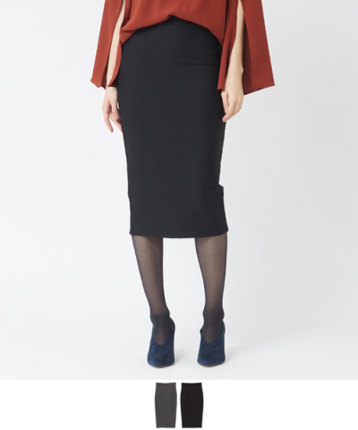 バックジップタイトストレートスカート【メール便可/60】【ファッション・アパレル レディーススカート】/大人女性へおすすめスタイルを提案するプチプラカジュアル通販のティティベイト(titivate) 公式通販/titivate(ティティベイト)/AOWD0146/aowd0146