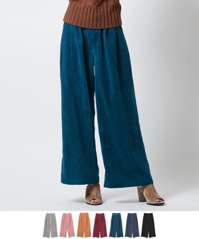 コーデュロイワイドパンツ【メール便可/90】〔第1弾!予約販売〕【ファッション・アパレル レディースパンツ】/大人女性へおすすめスタイルを提案するプチプラカジュアル通販のティティベイト(titivate) 公式通販/titivate(ティティベイト)/AOXP1161/aoxp1161