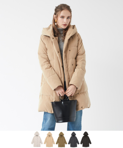 ビッグフードダウンコート【ファッション・アパレル レディースアウター】/大人女性へおすすめスタイルを提案するプチプラカジュアル通販のティティベイト(titivate) 公式通販/titivate(ティティベイト)/AOJR5611/aojr5611