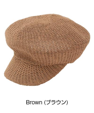 帽子 キャスケット 麦わら