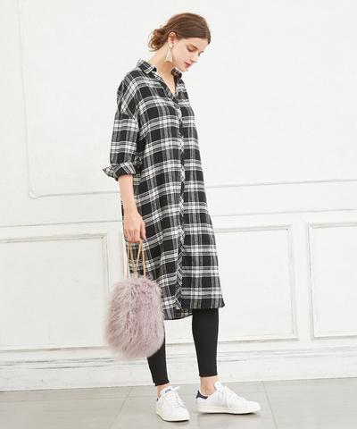 2b1d95e0f38ef チェック柄ロングシャツワンピース通販|レディースファッション・洋服 ...