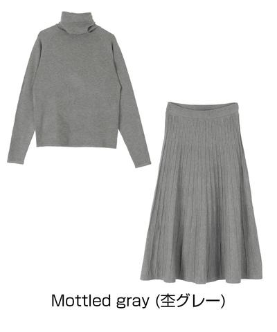 ティティベイト セットアップ プリーツスカート 上品 ママ