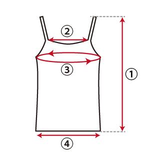 キャミソール類の図